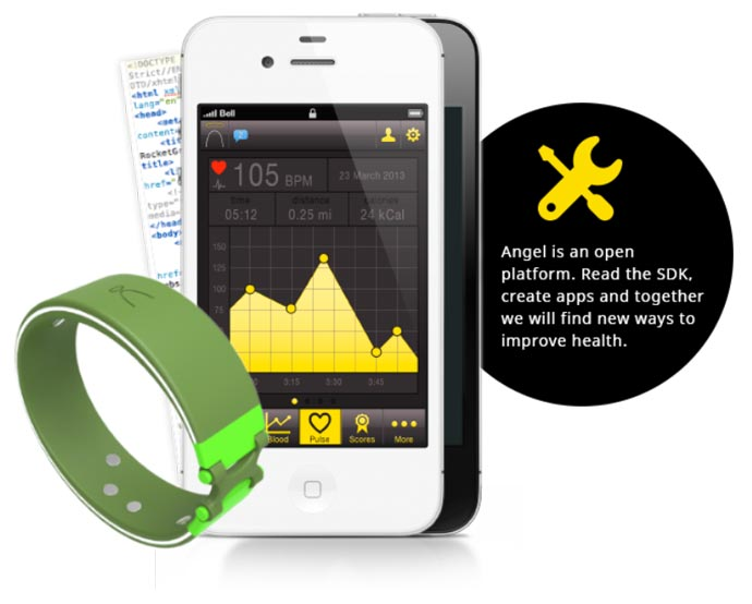 Angel Wristband - A Health Fitness Sensor