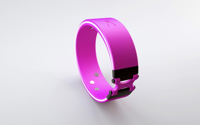 Purple Angel Wristband - A Health Fitness Sensor