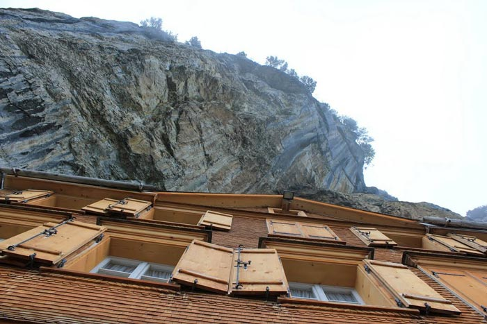 Exterior view of the Berggasthaus Aescher - A Mountain Guest House Swiss Alps