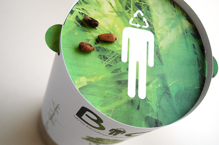 Packaging of the Bios Urn A Biodegradable and eco-friendly Urn