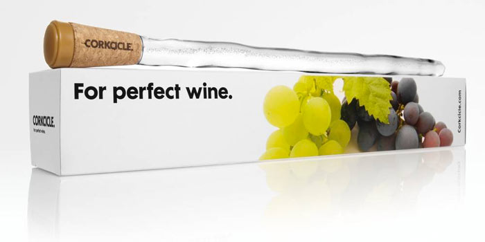 Packaging of the Corkcicle Wine Chiller
