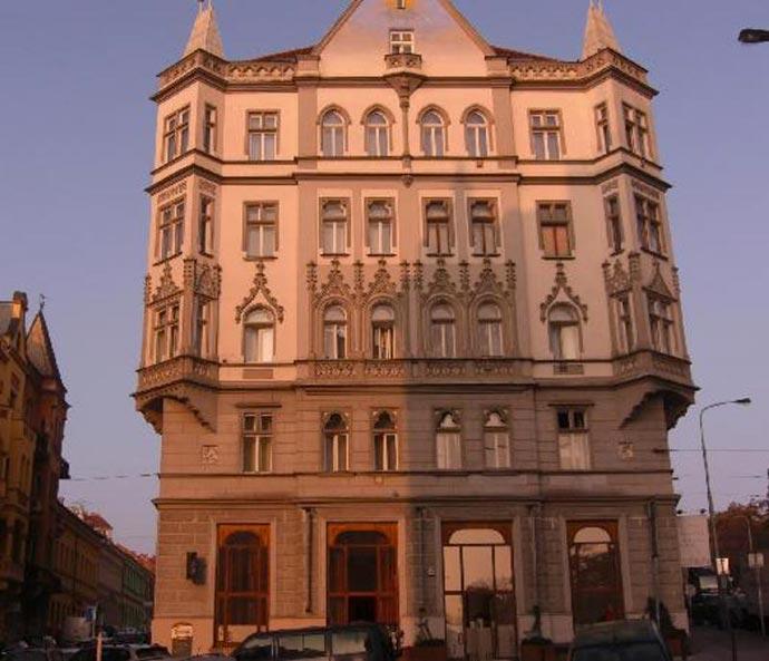 Architecture of Czech Inn Hostel in Prague