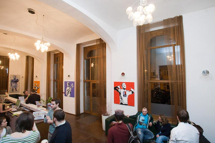 Reception area of Czech Inn Hostel in Prague