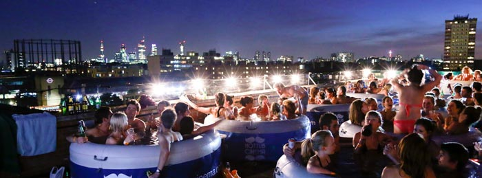 Hot Tub Rooftop Cinema at Rockwell House in London