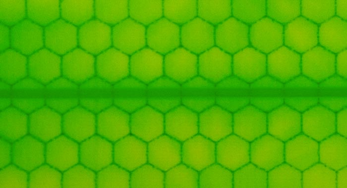 Honeycomb design of the Hydroflex Skateboards