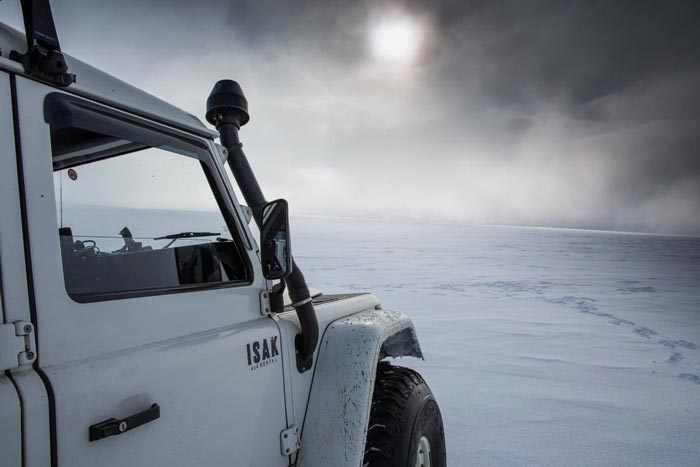 ISAK 4X4 SuperJeep Rentals in Iceland using Land Rover Defenders