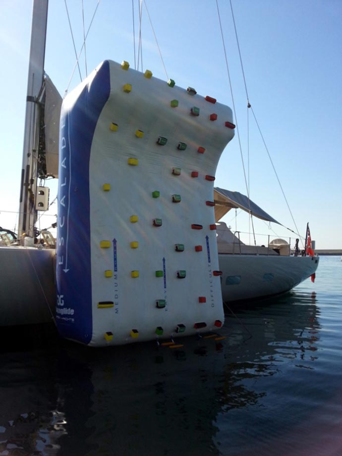 Inflatable Climbing Wall for Yachts by Green Yachts