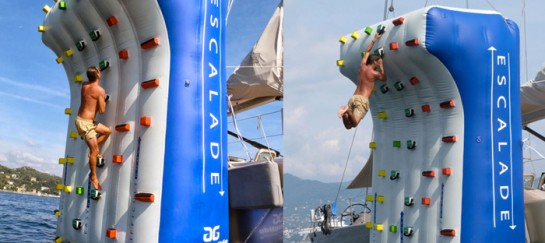 INFLATABLE CLIMBING WALL FOR YACHTS | BY GREEN YACHTS