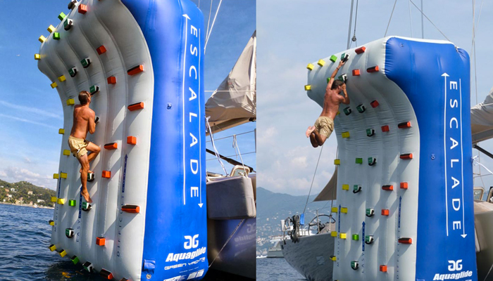 Inflatable Climbing Wall for Yachts by Green Yachts on Jebiga