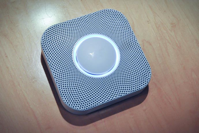 Top view of the Nest Protect - A Smoke Alarm and Carbon Monoxide Detector