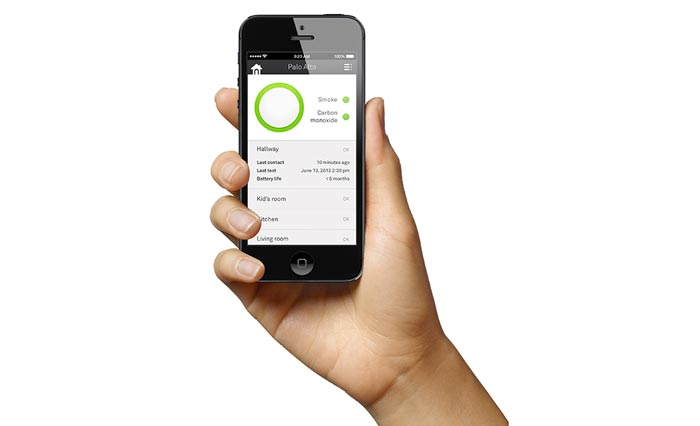 App for iPhone and Tablet for the Nest Protect - A Smoke Alarm and Carbon Monoxide Detector