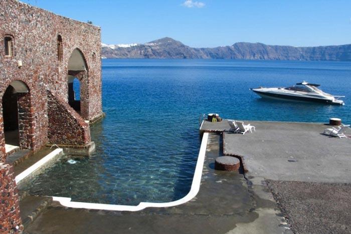 Docking area at Perivolas Hideaway in Thirassia, Santorini