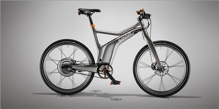 Matte gray color Smart ebike Electric Bicycle