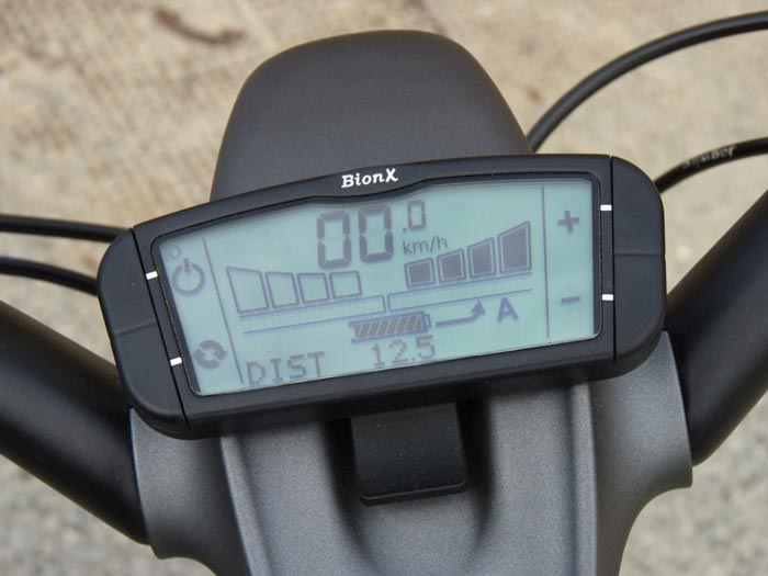 Display screen on the Smart ebike Electric Bicycle