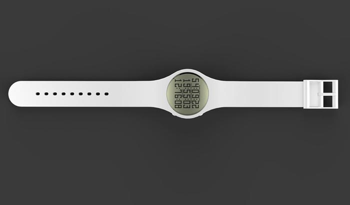 White Tikker Watch - Death Countdown Watch