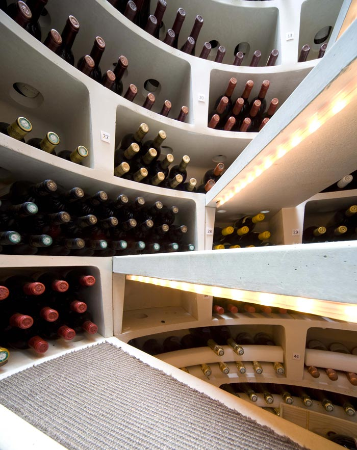 Inside an Underground Spiral Wine Cellar by Spiral Cellars Ltd