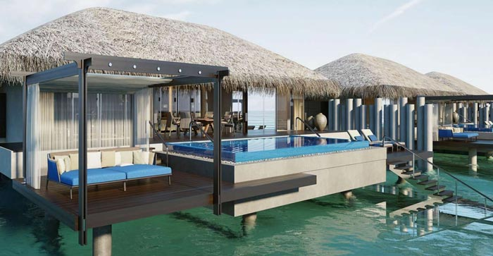 Water bungalow at Velaa Private Island Resort in The Maldives