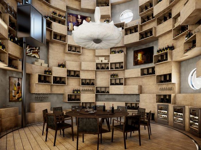 Wine cellar at Velaa Private Island Resort in The Maldives