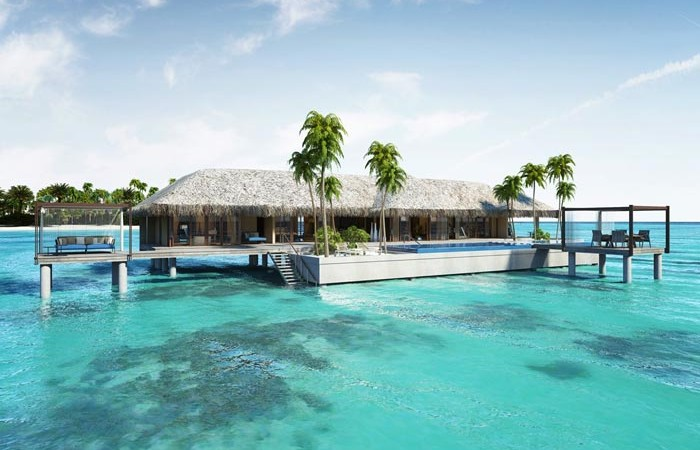 Bungalow over the water at Velaa Private Island Resort in The Maldives
