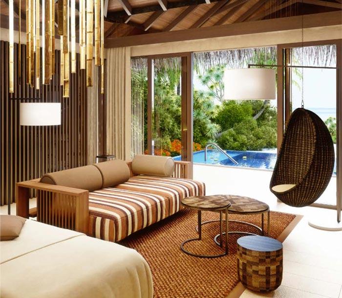 Room interior design at Velaa Private Island Resort in The Maldives