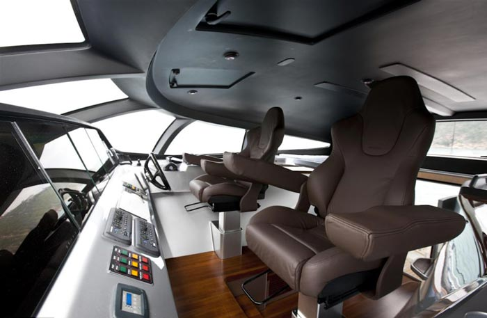 Cockpit of the Adastra Superyacht