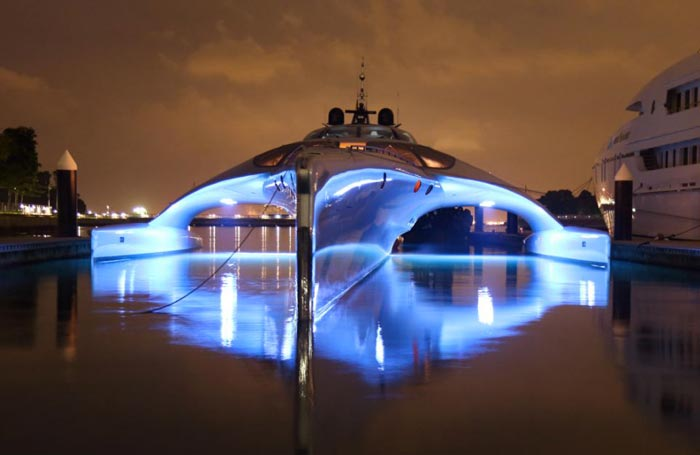 Front of the Adastra Superyacht