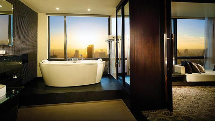 Bathroom at Banyan Tree Hotel in Bangkok