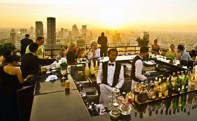 Rooftop bar Banyan Tree Hotel in Bangkok