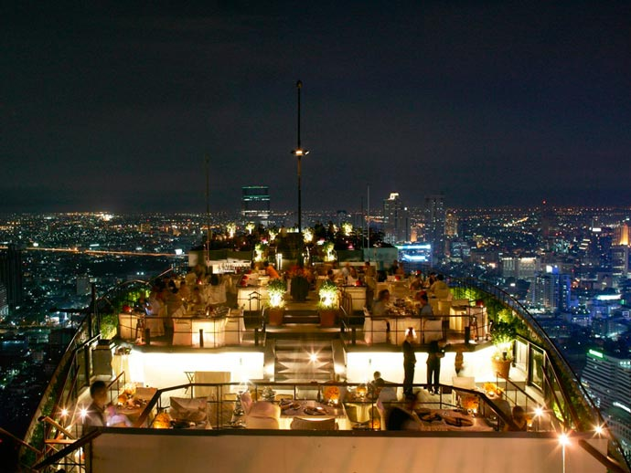 View from Vertigo Bar at Banyan Tree Hotel in Bangkok