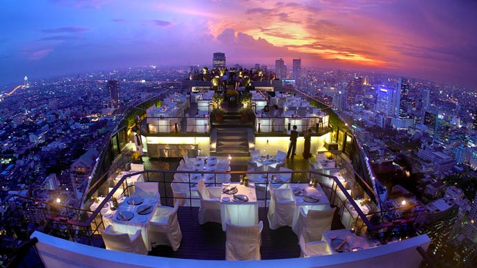 Rooftop Vertigo bar at Banyan Tree Hotel in Bangkok