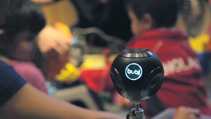 BUBL CAM 360º CAMERA on a tripod