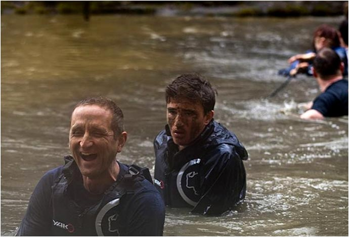 Participants of the Bear Grylls Survival Academy