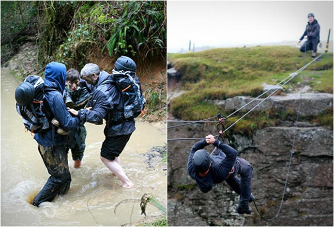 Training of the Bear Grylls Survival Academy