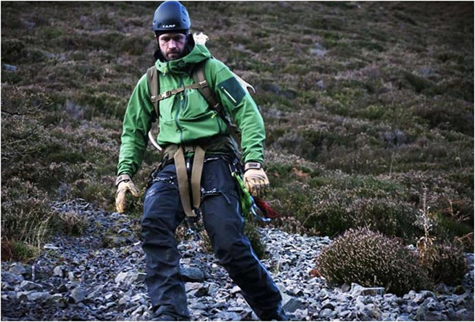 Participant of the Bear Grylls Survival Academy