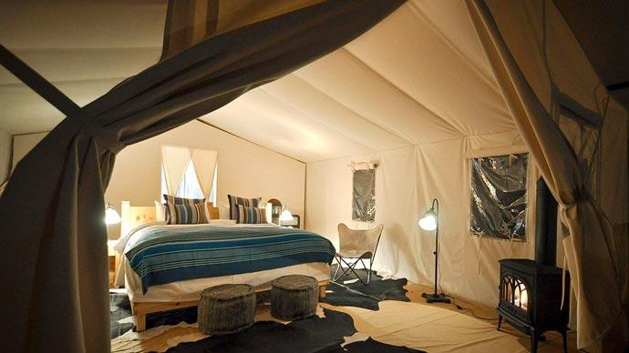 Indoor decor of a lodge in Colorado