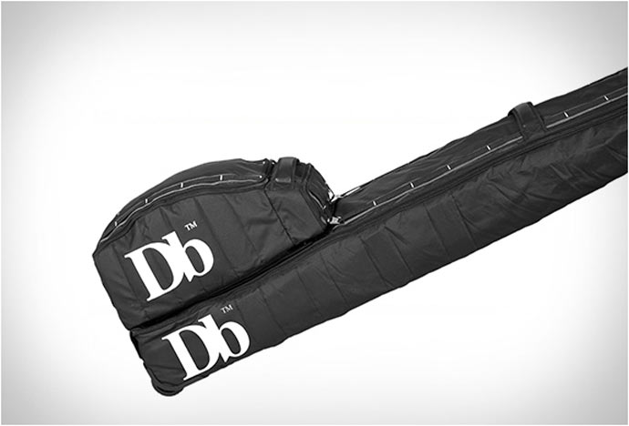 Side view of the Douchebag Ski and Snowboard Bag