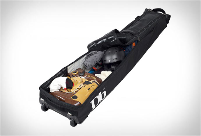 Inside compartment of the Douchebag Ski and Snowboard Bag