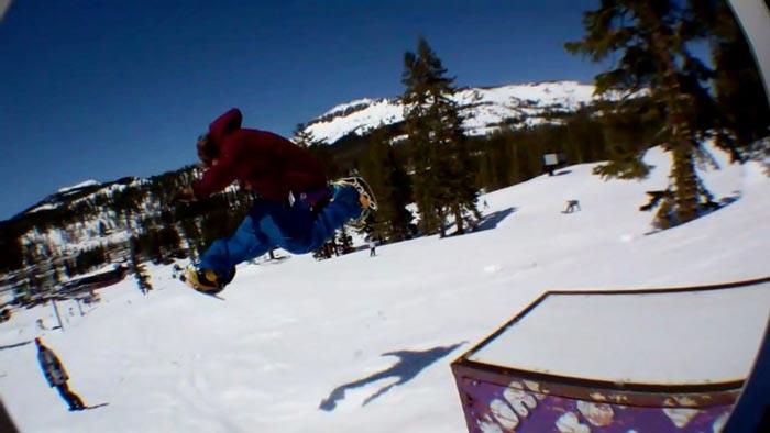Dual Snowboard jump