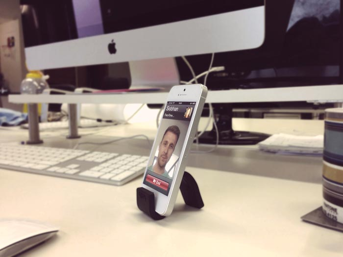 Gumstick Flexible iPhone and Smartphone Stand by Breffo at the office