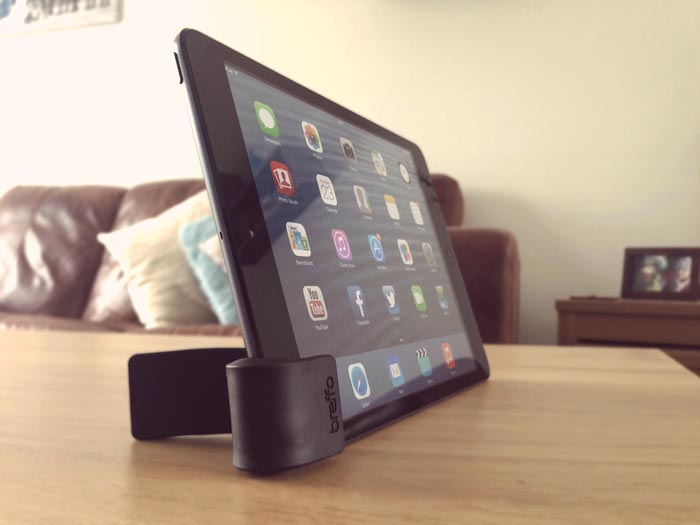 Gumstick stand used on an iPad