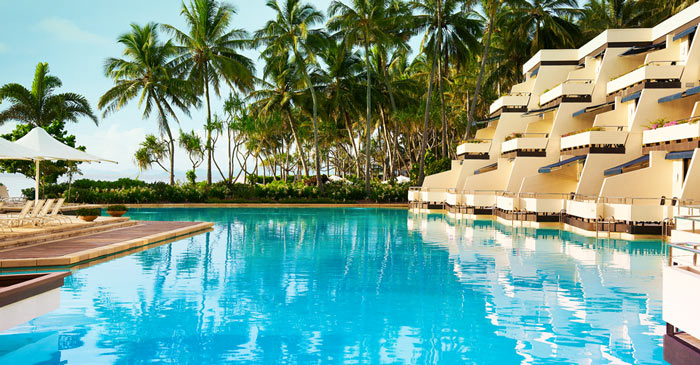 Swimming pool at the HAYMAN ISLAND RESORT in AUSTRALIA