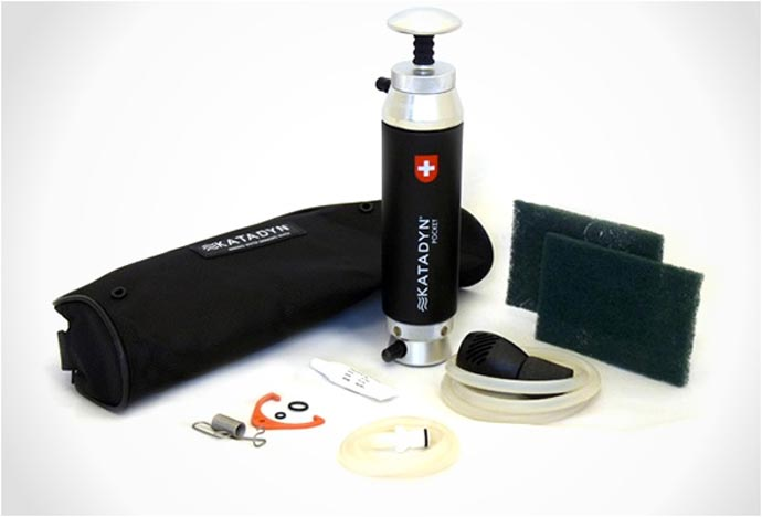 Katadyn Pocket Water Microfilter and accessories