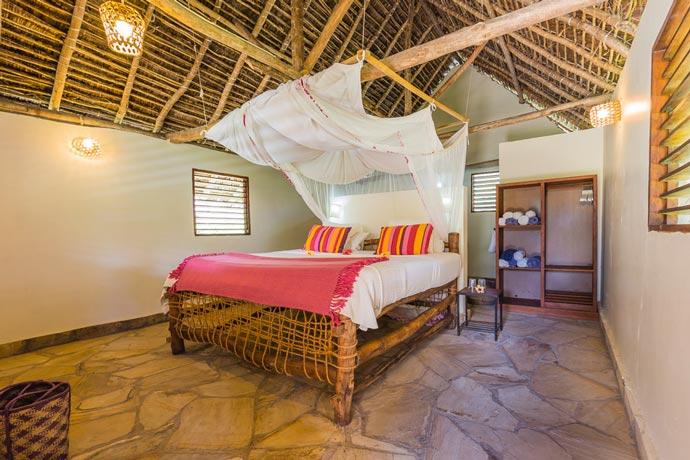 Bedroom design at Manta Resort in Zanzibar