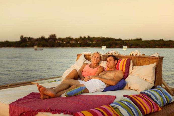 Rooftop terrace at Manta Resort in Zanzibar