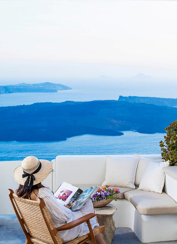 Scenery from Native Eco Villa in Santorini Greece