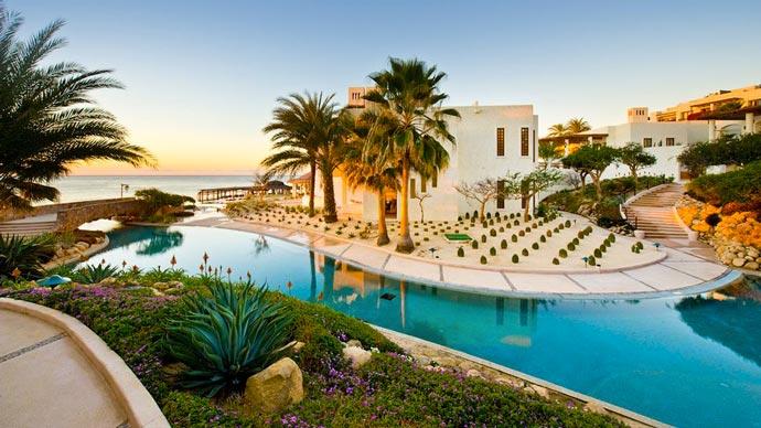 Swimming pool at Las Ventanas Rosewood Resort in Los Cabos Mexico
