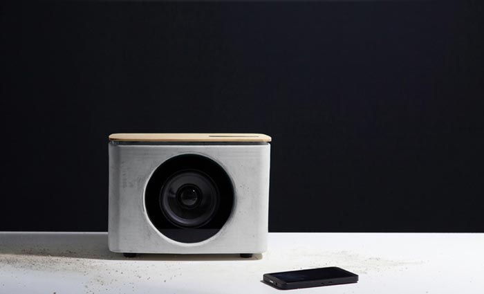 PACO Concrete Bluetooth Speaker - A Gestured Controlled Speaker