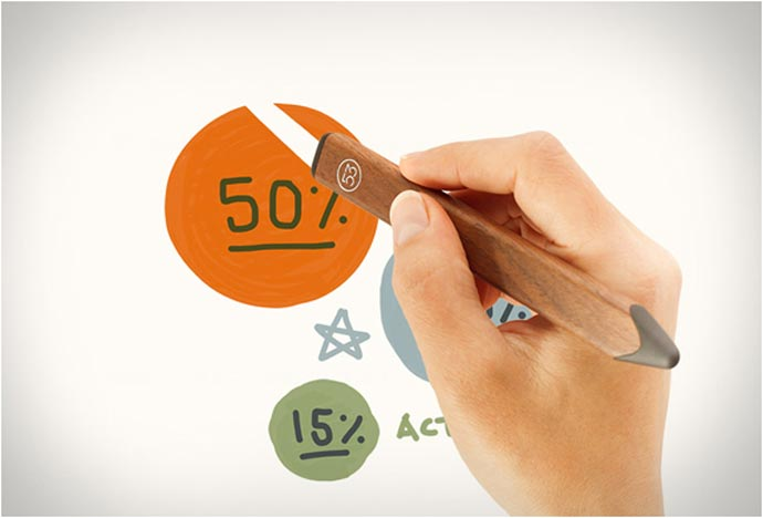 Eraser feature of the pencil stylus