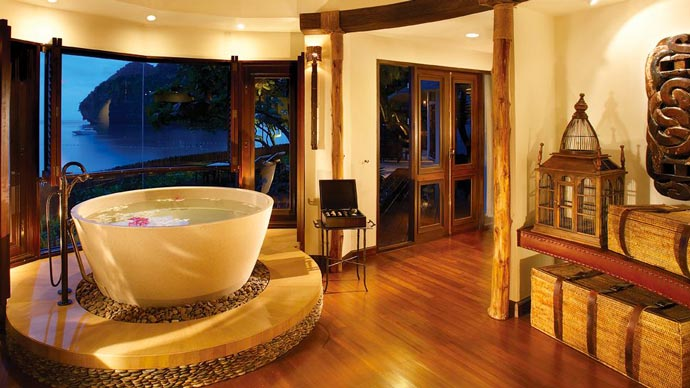 Bathroom design of a villa at Rayavadee Resort