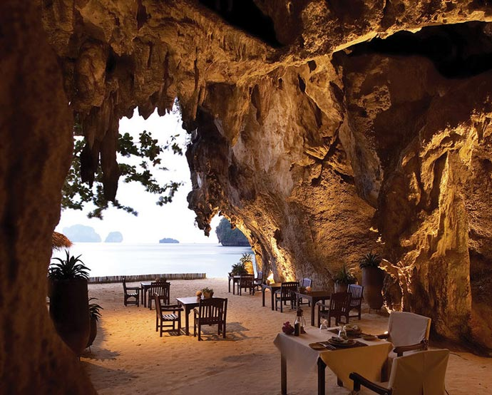 Grotto restaurant at Rayavadee Resort